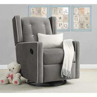 Baby Relax Mikayla Grey Swivel Gliding Recliner