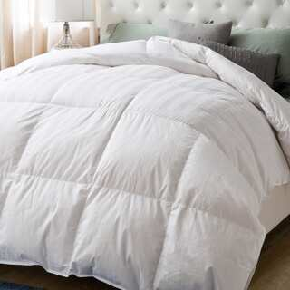White 650 Fill Power Hypoallergenic 300 Thread Count Down Comforter