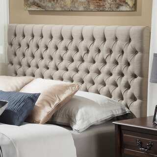Christopher Knight Home Jezebel Adjustable King/ California King Button Tufted Fabric Headboard