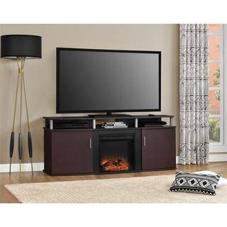 Altra Cherry Carson 70 inch Fireplace TV Console