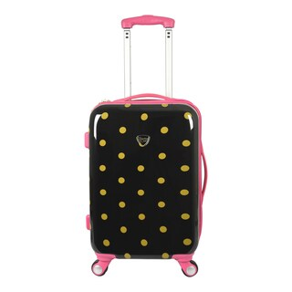 Travelers Club Polka Dot Modern 20-inch Hardside Expandable Carry-On Spinner Suitcase