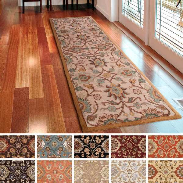 Hand-Tufted Patchway Wool Rug (2'6 x 8