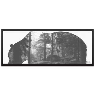 Adam Schwoeppe 'Grizzly Bear Forest' Contemporary Metal Animal Silhouette Art