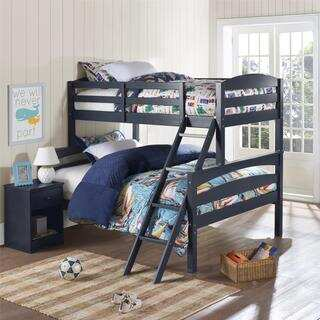Dorel Living Brady Graphite Blue Twin over Full Bunk Bed