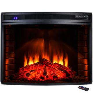 AKDY 33-inch Freestanding Tempered Glass 6 Setting LED Backlit Adjustable 1500W Electric Fireplace