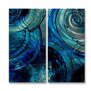 Metal Wall Art Sculpture 'Blue Moons' Erin Ashley
