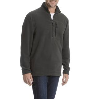 Narragansett Traders Men's Solid Quarter Zip Fleece Sweater