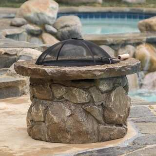 Christopher Knight Home Micah Outdoor Natural Cement Fire Pit