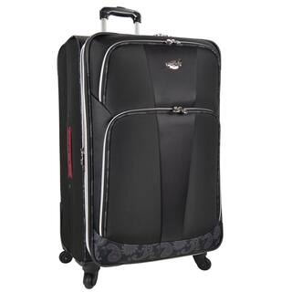 Bret Michaels by Traveler's Choice Classic Road 31-inch Expandable Spinner Upright Suitcase