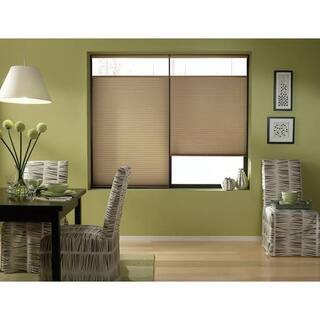 Cordless Top Down Bottom Up Cellular Shades in Antique Linen 26 to 26 1/2 Inches Wide