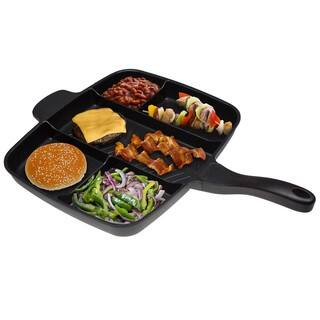 "Master Pan 5 in 1 Kicthen Pan Skillet Non-Stick Grill Fry Oven , 15"" ( BLACK )"