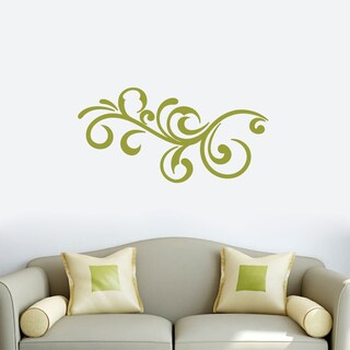 Decorative Scroll Flourish Wall Decal 36-inch wide x 18-inch tall