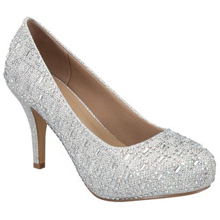 Beston GB28 Women's Glitter Rhinestone Slip-on Party Heels