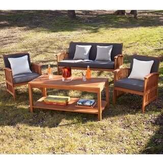 Upton Home Charlotte Outdoor 4-piece Deep Seat Patio Set