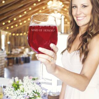 Will You Be My Maid of Honor? 25-ounce XL Wine Glass