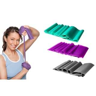 Yoga & Pilates Stretch Exercise Bands (Set of 3)