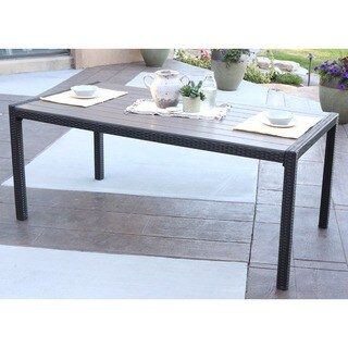 angelo:HOME Rattan Patio Dining Table - Brown