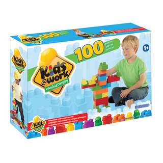 Kids @ Work Multi-colored Plastic 100-piece Boxed Block Set
