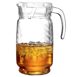 Allure Glass 64-ounce Pitcher With Clear Lid