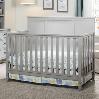 Delta Children Easton Grey Pine 4-in-1 Convertible Crib