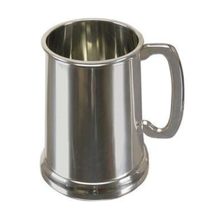 Elegance 19-ounce Plain Pewter Plain Tankard