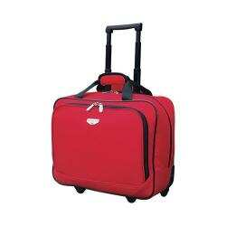 Travelers Club 17in Single Section Rolling Briefcase Red