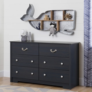 South Shore Aviron 6-Drawer Blueberry Double Dresser