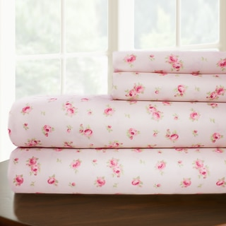 Sweet Rose Printed 4-piece Sheet Set