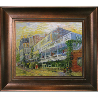 Vincent Van Gogh 'The Restaurant de la Sirene at Asnieres' Hand Painted Framed Canvas Art