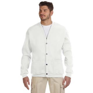 50/50 Men's White Nublend Cardigan
