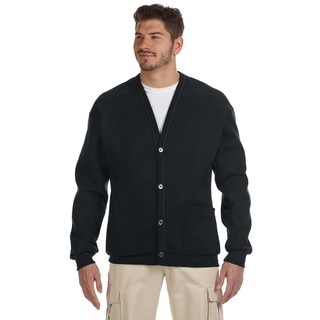 50/50 Men's Black Nublend Cardigan