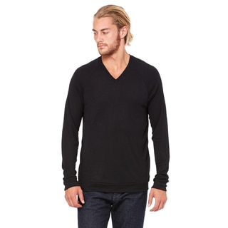 Unisex Black V-Neck Lightweight Sweater