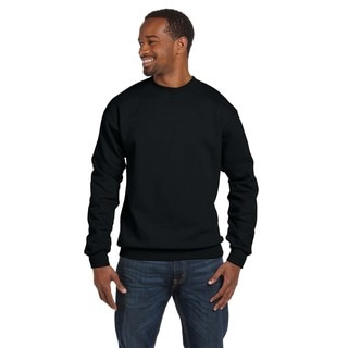 Ringspun Men's Black Crew-Neck Sweater