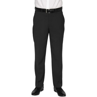 Kenneth Cole New York Men's Technicole Black Polyester-blend Trousers