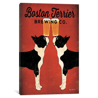 iCanvas Boston Terrier Brewing Co. by Ryan Fowler Canvas Print