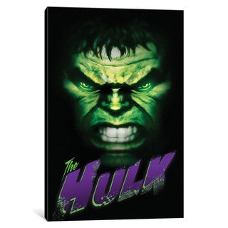 iCanvas Avengers Assemble: Hulk In Zoom Classic Situational Art by Marvel Comics Canvas Print