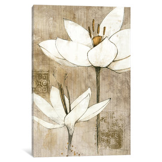 iCanvas Pencil Floral I by Avery Tillmon Canvas Print