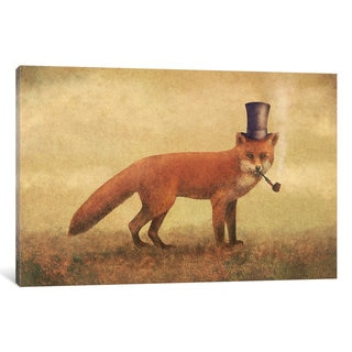 iCanvas Crazy Like A Fox by Terry Fan Canvas Print
