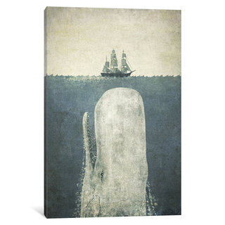 iCanvas White Whale by Terry Fan Canvas Print