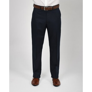 Dockers Navy Polyester Straight Fit Pant