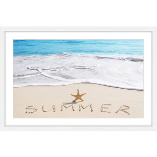 Marmont Hill - 'Summer Starfish' Framed Painting Print