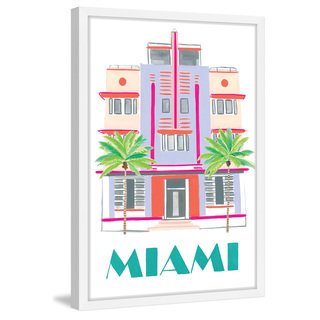 Marmont Hill - 'Miami Art Deco' by Molly Rosner Framed Painting Print