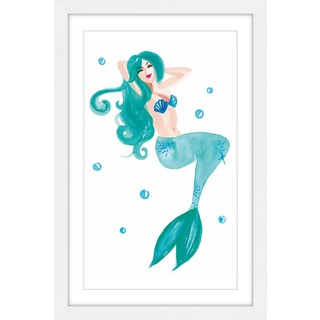 Marmont Hill - 'Mermaid Blue' by Molly Rosner Framed Painting Print