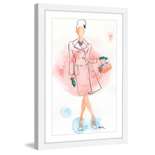 Marmont Hill - 'Pink Coat' by Lovisa Oliv Framed Painting Print