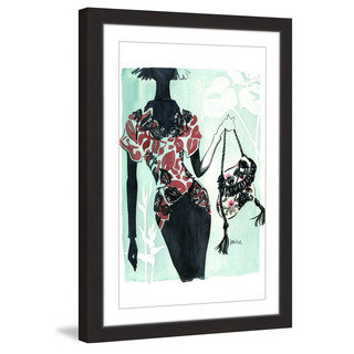 Marmont Hill - 'Hawaiian Print' by Lovisa Oliv Framed Painting Print