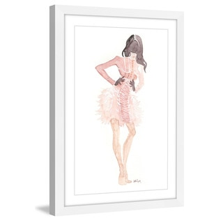 Marmont Hill - 'Dusty Pink' by Lovisa Oliv Framed Painting Print