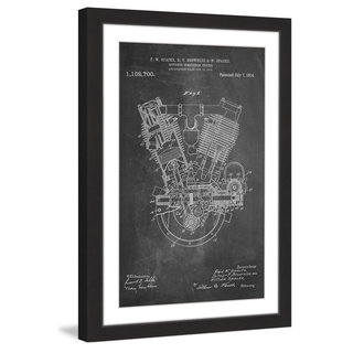 Marmont Hill - 'Engine 1914 Chalk' by Steve King Framed Painting Print