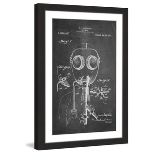 Marmont Hill - 'Gas Mask 1921 Chalk' by Steve King Framed Painting Print