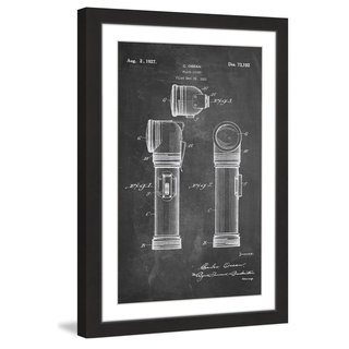 Marmont Hill - 'Flashlight 1923 Chalk' by Steve King Framed Painting Print