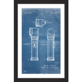 Marmont Hill - 'Flashlight 1923 Blueprint' by Steve King Framed Painting Print